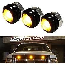 Grand General 76530 Amber Medium Rectangular 4 LED Strobe Light with Amber Lens