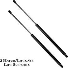 CCIYU 2 Rear Window Glass Gas Lift Supports Support Struts Shocks Springs Prop For Jeep Liberty 2002 2003 2004 2005 2006 2007