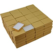 The Display Guys~ Pack of 100 Cotton Filled Cardboard Paper Gold Jewelry Box Gift Case 2 1//8x1 5//8x3//4 inches #11 Gold Foil