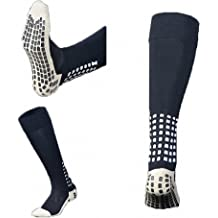 Unisex Sports Thicken Cushion Crew Socks with Rubber Dots for Baseball//Soccer//Futbol Shinguards