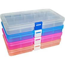 AIMEI Plastic Storage Box Tackle Boxes Jewelry Organizer Storage containers Bead Box Fishing Tackle Storage Plastic Organizers 36 grids //2pack