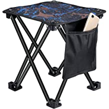 Nahiro Portable Folding Camping Stool Retractable Plastic Foldable Stool for Outdoor Travel Fishing Hiking Garden BBQ Indoor Kitchen Chair Gray