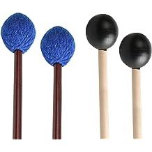 pair Black Rubber Heads Stagg Glockenspiel Mallets