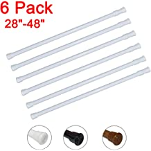 """6 Pack Tension Rods 15.7/"""" to 28.7/"""" Curtain Rods for Windows Tension Curtain Rod"""