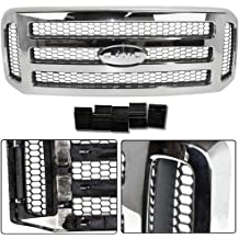 DAT AUTO PARTS Headlight Door Grille REPLACEMENT FOR FORD F250 CHROME PASSENGER