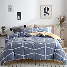 100/% Washed Cotton Breathable /& Cozy Ultra Soft White-Gray, King Joyreap 3 Pieces Duvet Cover Set King Simple Reversible Solid Color Duvet Cover with Zipper Closure /& Corner Ties