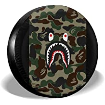ASLGlicenseplateframeFG Tire Cover Polyester Universal Spare Wheel Tire Cover Wheel Covers Jeep Trailer RV SUV Truck Camper Travel Trailer Accessories 14,15,16,17 Inch