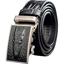 Menschwear Mens Belt Genius Leather Adjustable Belt with Copper Slide Buckle 36MM