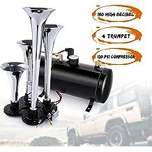 Ruyiot 12V Loud Air Horn Kit Trumpet Vehicles Horn Kit Handles for Horn