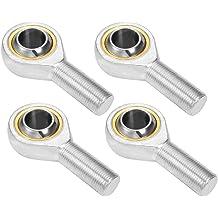 TUOREN 8mm Inside Dia Rod End Bearing Male Thread Economy Right Hand-4pcs