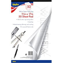 Koh-I-Noor Bristol Vellum Bright White Paper Pad with In and Out Pages Side Wire-Bound 20 Sheets per Pad 26170400413 5.5 x 8.5 270 GSM