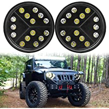 Athiry 20-22 Inch Straight Windshield Led Light Bar Steel Vehicle Hood Mount Brackets For 07-2017 Jeep JK Wrangler Black Offroad Lights