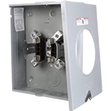 Square D by Schneider Electric UHTRS101B 125A Ringless Overhead//Underground Meter Socket With Horn Bypass
