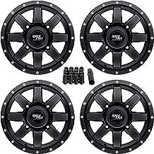 3.0 Black for Polaris RANGER 800 CREW 2010-2014 4//156 Motosport Alloys M12 Diesel Wheel 14x7 4.0