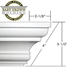FLEXTRIM #49 Flex Crown: 9//16 x 3-5//8 Flexible Crown Molding 12 feet Long 144 Long - for Gentle Curves and Straight Runs