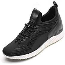 CHAMARIPA Mens Invisible Height Increasing Elevator Shoes-Knit Casual Sneakers Sport Shoes-2.36 Inches Taller H81C95K012D