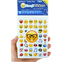 960 of the Most Popular Emoji stickers on 20 Pages as seen on the iPhone Twitter Facebook and more Instagram Waterproof and Removable JUMBO PACK Emoji Sticker JUMBO PACK