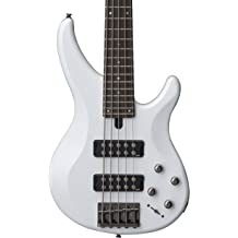 Yamaha TRBX305 PWT Pewter 5-String Bass Guitar w//Polish Cloth and Gig Bag