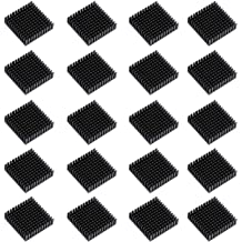 DGZZI Aluminum Heatsink 4PCS 40x40x11mm Black Aluminum Cooling Fin Radiator with 3M Thermal Conductive Adhesive Tape for Cooling GPU IC Chips VRAM VGA RAM