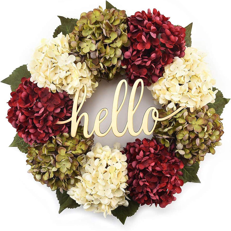 Hydrangea Wreaths For Front Door, Outdoor Spring Wreaths For Front Door