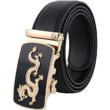 aff1ce827 Tanpie Men's Leather Belt Automatic Alloy Buckle 35mm Ratchet Belt