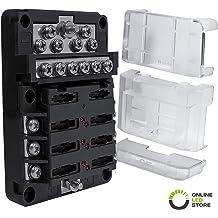 GZYF 2-Way Power 1x1//0 AWG 2x4 AWG Distribution Block Car Audio Solar Amp Power//Ground Cable Splitter