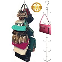 Evelots Purse Handbag Closet Organizer-Hanging-Chrome Finish-12 Hook Total-Set//2