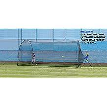 onEveryBaby Baseball Train Net Rack Rebound Goal Red Sleevelet