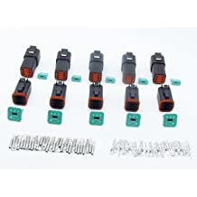 CNKF 5 Sets JST Japanese Series Waterproof 6 Pin Way Male and female HM 090 Sumitomo Connectors 6180-6181 6189-6171