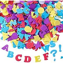 Black//Clear Darice 30052941 Alphabet Stickers 1260 Pack