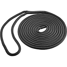 "1//2/"" X 20/' Double-Braided Nylon Dock Line with 12/"" Eyelet Dock Line for Boats DC Cargo Mall 4 Marine-Grade Double-Braided Dock Lines"