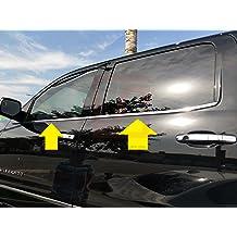 LJ INTERNATIONAL Quality Accessories 4pcs Set Stainless Steel Door Pillar Moldings Compatible with Dodge Ram Crew.Mega