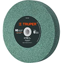 1 Pack Arbor=1 TRUPER PIES-6160 6 Aluminum Oxide Bench Grinding Wheels Thickness=1 Grit=36
